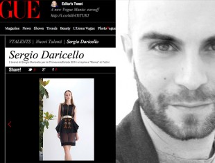 Sergio Daricello S/S 2014 su Vogue.it